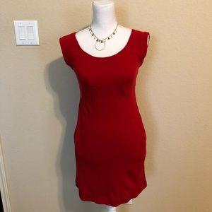 Diane Von Furstenberg Red Wool Dress